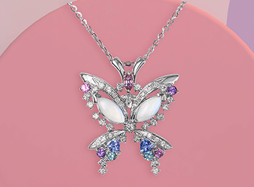 Moonstone Butterfly Family Pendant